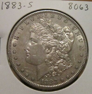 1883-S Morgan Silver Dollar Au Details Better Date Us Silver Coin