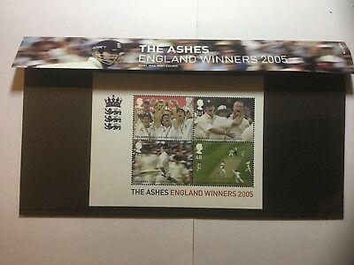 Royal Mail Stamps England Ashes Victory Miniature-Sheet Presentation Pack 2005