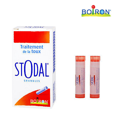 Boiron Stodal Homeopathic Cough Treatment Relief Granules 2 x 4g Tubes