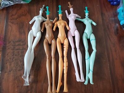 Monster High Doll Replacement Nude Bodies x5 Torso, Upper Arms, & Legs D2