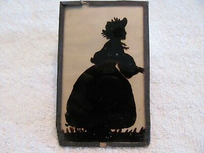 Antique 1931 Silhouette of a Country Women.