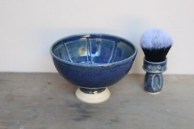 Giles Shaving Co.- Spotty Pedestal Wet Shaving Bowl - Handmade in UK