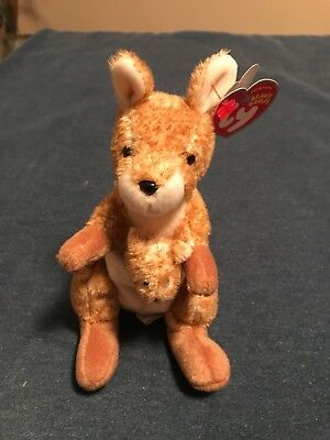 Ty Beanie Baby Kangeroo Willougby - with Tags -