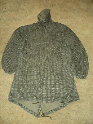 Vintage Authentic Us Military Issue Night Camo Desert Parka Small