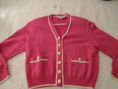 ST. JOHN Collection By Marie Gray Size S Deep Pink  Pre-owned Jacket