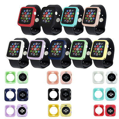 For Apple Watch iWatch Series 4 3 2 Bumper Silicone Protector Case Cover 38-44mm