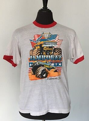 vintage 1987 MONSTER TRUCK jamboree SOFT thin T SHIRT medium 80s
