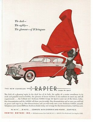 Vintage Sunbeam Rapier Advertisement 1956