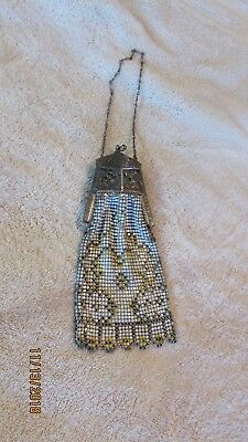 Early Rare Antique 1900's Whiting Davis El Sah Elsah Mesh Purse