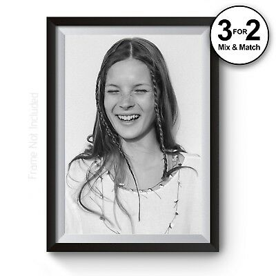 100/% Cotton Salon Art Kate Moss Supreme Smoking Photography Wall Art Print