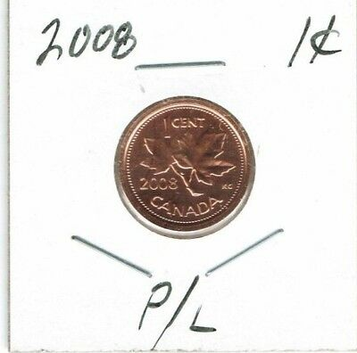 2008 Canadian Proof Like One Cent Elizabeth II Coin!