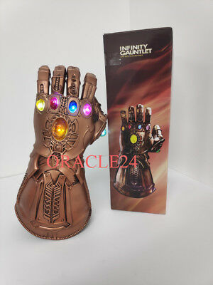 Thanos Infinity War LED Gauntlet Glowing Lights Glove Avengers Cosplay Latex