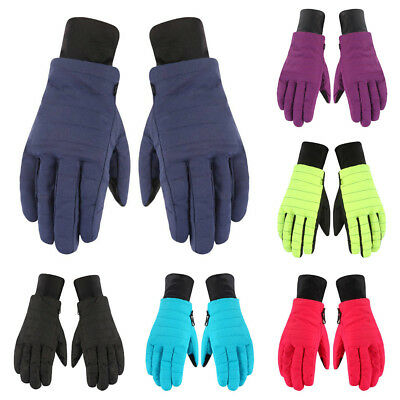 AU Men Women Waterproof Winter Thermal Ski Snow Snowboard Driving Bike Gloves