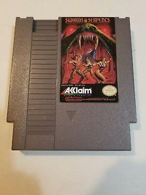 Swords and serpents Nintendo free shipping NES good condition ☆☆ tested