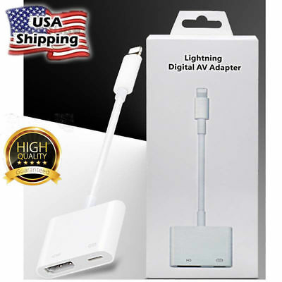 For Apple Iphone 6 7 8 Plus Ipad Lightning to HDMI Digital AV TV Adapter Cable
