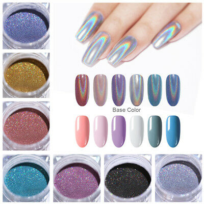 Nail Glitter Powder Holographic Magnetic Chameleon Mirror Metallic Nail Art Dust