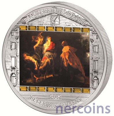 Cook Islands 2012 Flight into Egypt by Rubens $20 Pure Silver Proof Coin