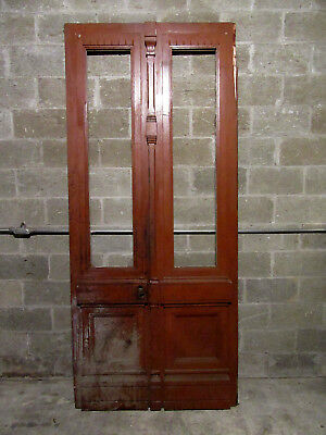 ~ Antique Carved Walnut Double Entrance French Doors ~ 44.75 X 101.25 ~ Salvage