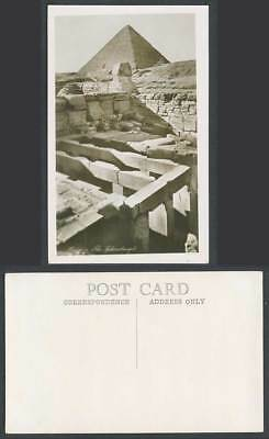 Egypt Old Real Photo Postcard Cairo The Sphinx Temple Pyramid Sphinxtemple N.172