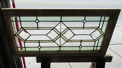 ~ Antique Stained Beveled Glass Transom Window ~ 2 Of 2 ~ 35 X 18 ~ Salvage