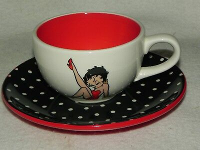 Beautiful Betty Boop Cup And Saucer - As Pictured