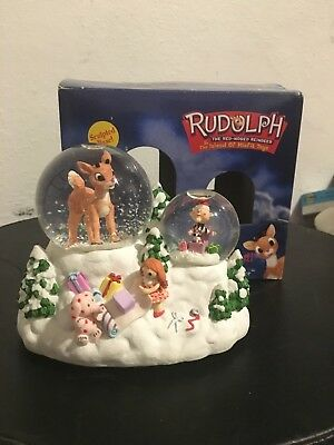 Enesco Rudolph the Red Nosed Reindeer - Musical Waterball  ISLAND OF MISFIT TOYS