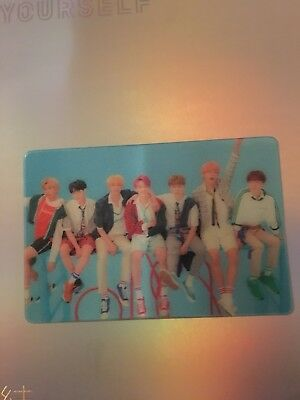 Rare BTS Love Yourself Answer GROUP Lenticular Photocard