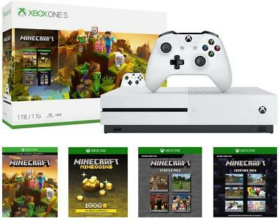 Xbox One S 1tb Console - Minecraft Complete Adventure Bundle-1000 Minecoins