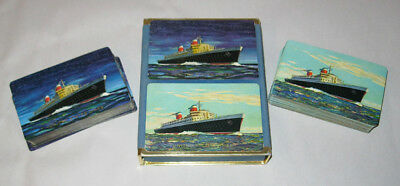 SS United States Line Cruise Ship Playing Cards America 2 Decks Souvenir Ocean