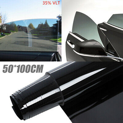 Black 35% Car Auto Window Tint Film Roll House Glass Cover Tinting 50cmx1m