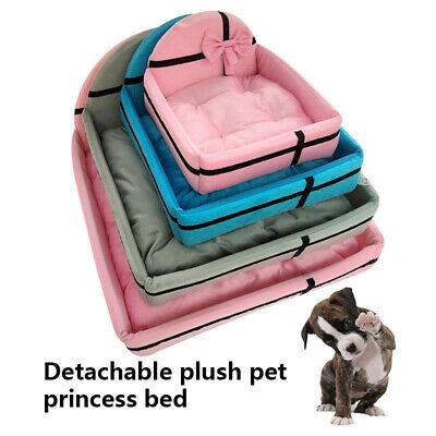 1 Pcs Detachable Pet Bed Dog Cat Nest Soft Warm Sweet Puppy Bed for Sleeping