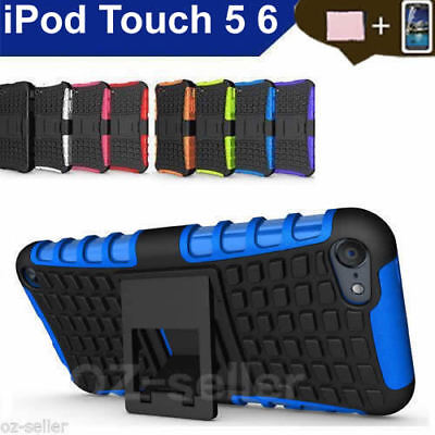 Case Cover For Apple iPod Touch 5 6 PC TPU Shockproof Hybrid Kickstand Soft