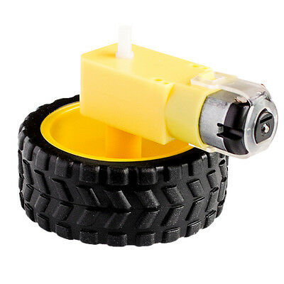 Smart Car Robot Plastic Tire Wheel with DC 3-6v Gear Robot Motor New
