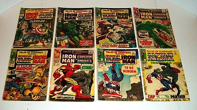 Tales Of Suspense 8 Issue Lot #'s 70, 81, 92, 93, 94, 95, 96, & 98 Marvel Comics