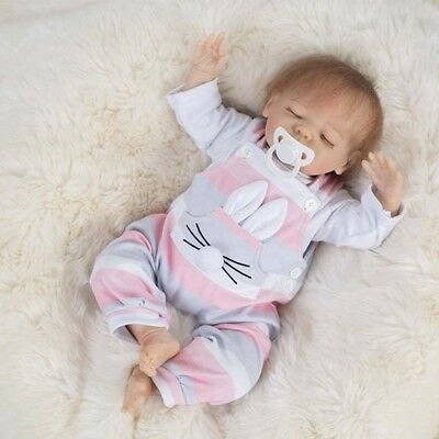18inch Silicone Reborn American Doll Lifelike Newborn Baby Girl Doll Toddler