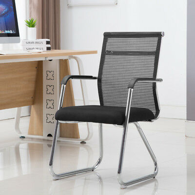 Home Office Chair Computer Desk Chair Meeting Room Mid Back Mesh Chair Chrome