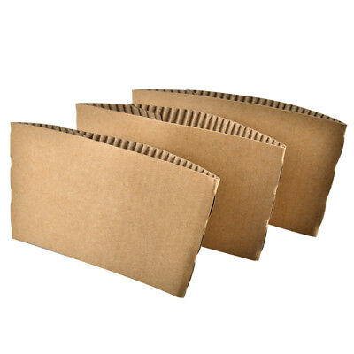 100 PCS Kraft Paper Cup Sleeve 8 Ounce / 12 Ounce Hot Tea Coffee Pack LOT Aspire