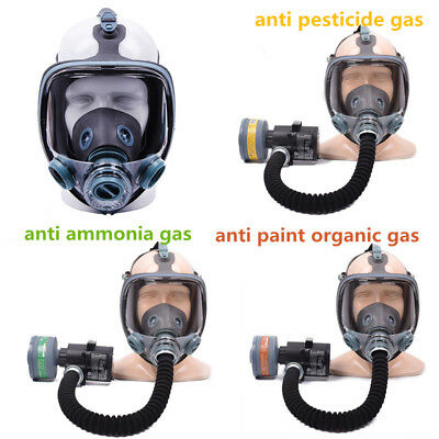 Electric Industrial Respirator Gas Mask Chemical Spray Paint Filter UK