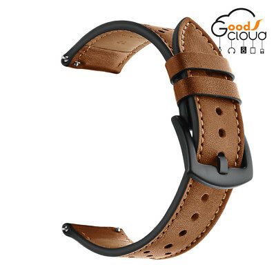 22mm Classic Genuine Leather Strap Belt Watch Band For Samsung Gear S3 Frontier