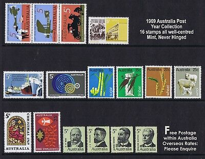Australian Post Year Collection 1969 (16 stamps) MNH ++ENJOY COLLECTING!!++