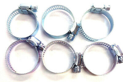 """Hose Clamps 1 1/4"""" X 8mm 100pcs Line Pipe Clips Steel Clamps Galvanlized steel"""