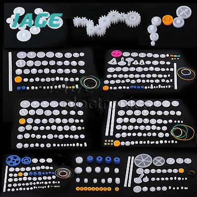 Plastic Gears Pulley Belt Worm DIY Rack Kits Crown Gear 11/34/58/75 kinds