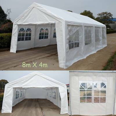 Heavy Duty Marquee White Garage Tent Shelter Carport Canopy Steel