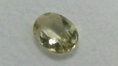 CHRYSOBERYLL FACETTIERT, 7,7x5,7mm oval, 0,8ct