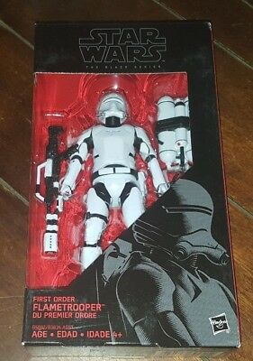 "New Star Wars The Black Series: #16 FIRST ORDER FLAMETROOPER 6"" Action Figure!"