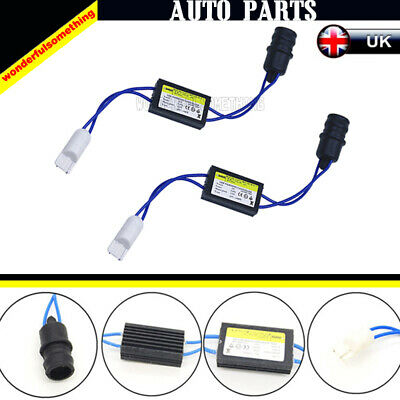 UK Stock 501 T10 W5W LED Bulb OBC Warning Canceller Decoder Resistor Adapters
