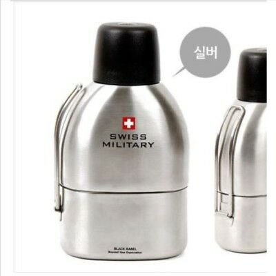 SWISS MILITARY Vacuum Stainless Steel Thermos Canteen Camping Hiking 750ml