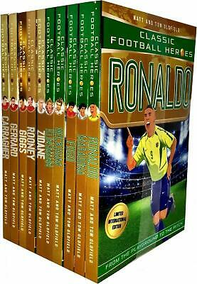 Classic Football Heroes Series Collection 10 Books Set By Matt & Tom Oldfield UK