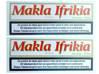 Makla Ifrikia - Chewing Tobacco - Tin - 2 bar 2 x 10 x 20 G Metal Box