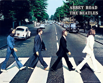 The Beatles Abbey Road Music Rock Pop Mini Poster Print 40x50cm | 16x20 inches
